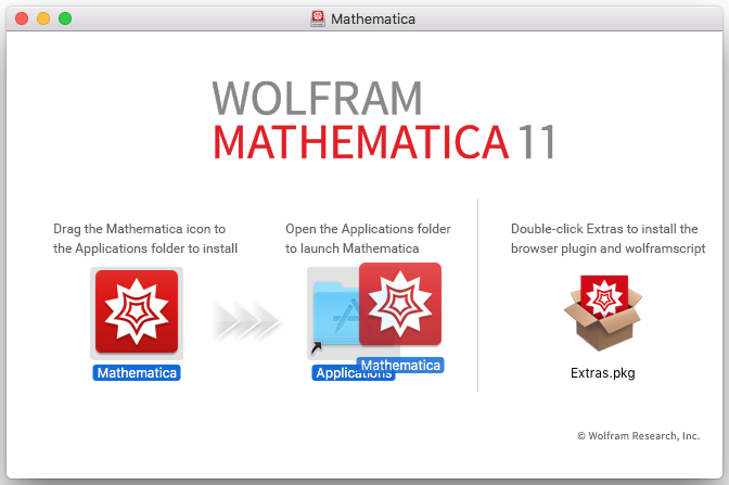 Mathematica icon moving into the applications folder