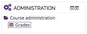 Administration block/grades button