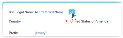 use preferred name checkbox