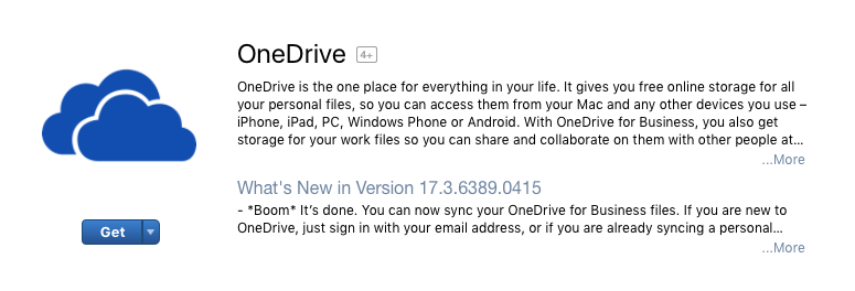 install onedrive for business mac