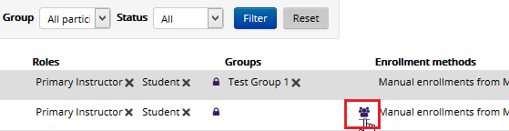 add user to groups icon under the groups header