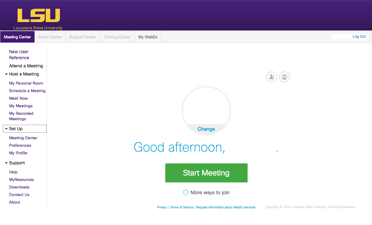 WebEx Meeting Center: Share Applications - GROK Knowledge Base