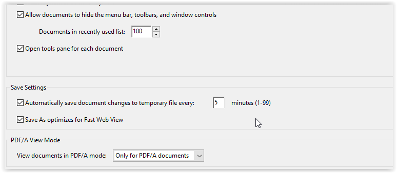 the save settings field box with the options checked