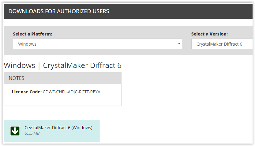 CrystalMaker Diffract 6 download button