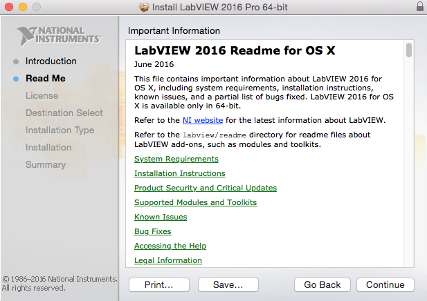 LabVIEW installer ReadMe
