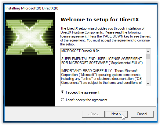 Set up wizard for Managed Directx