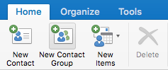 New Contact Group button