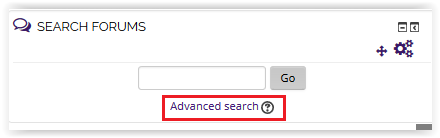 Advanced Search link.