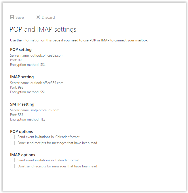 LSUMail POP & IMAP Settings and options