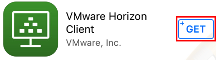 VMware horizon get button.