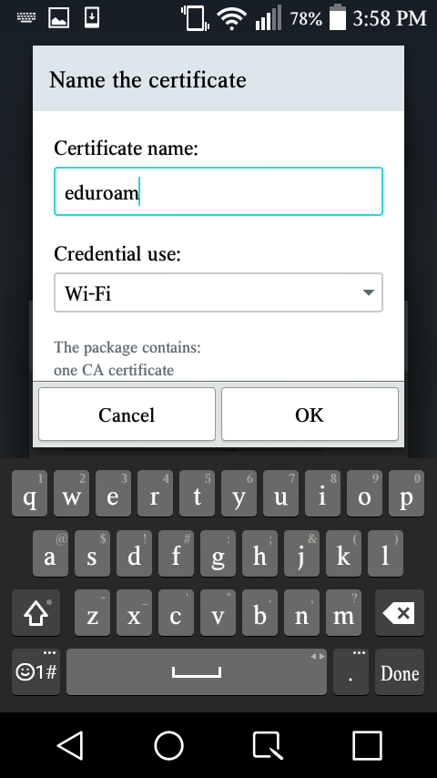 Android: Connecting to eduroam (Wireless) - GROK Knowledge Base