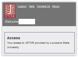 JSTOR account use