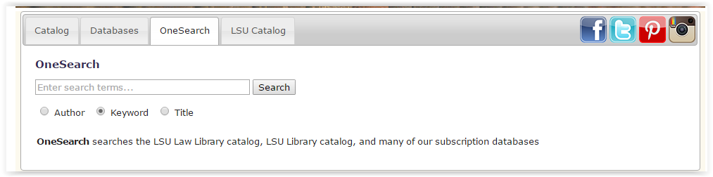 searching with the one search feature