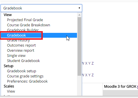 Gradebook option