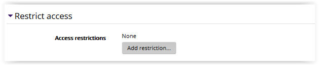 Restrict Access settings.