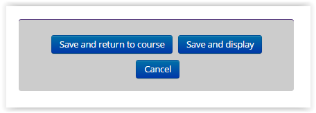 save and return to course button