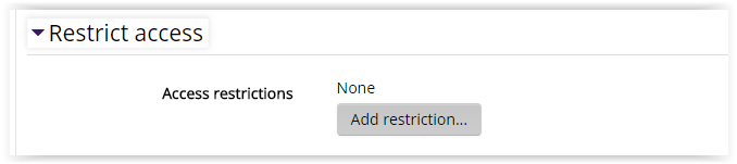 Restrict Access settings