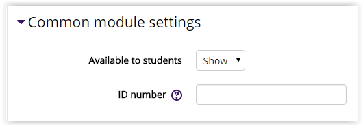Common Module Settings