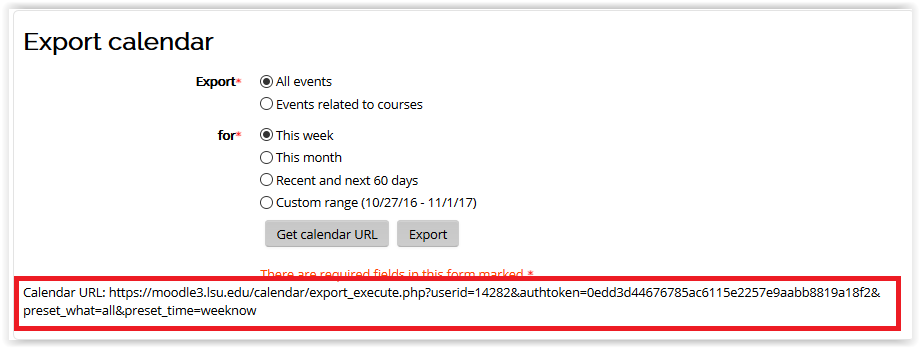 Event URL in the calendar in moodle 3