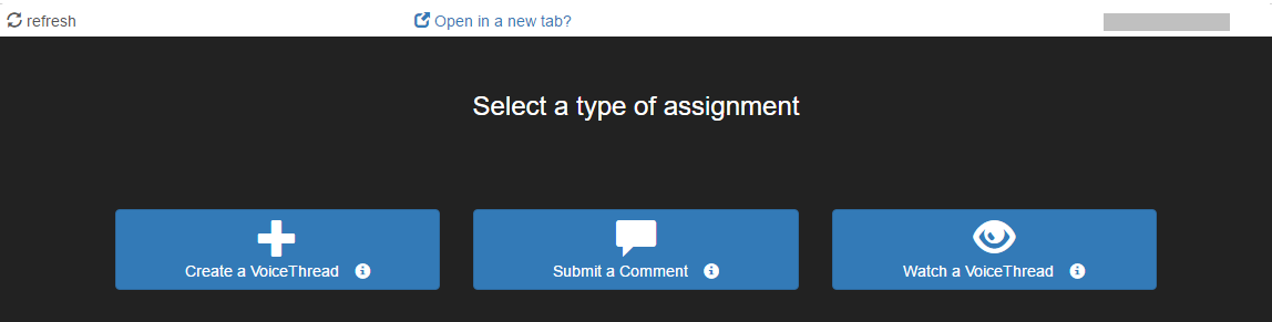 The Assignment Builder window with three options shown