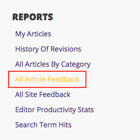All Article Feedback option