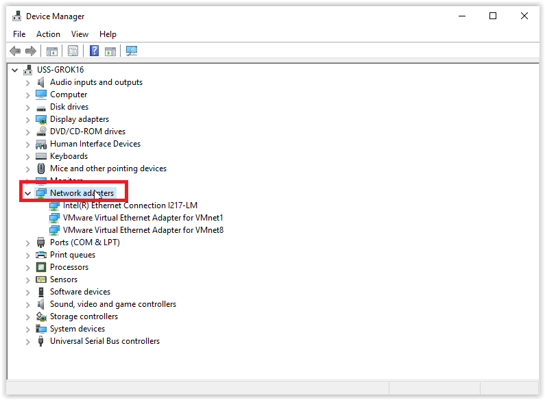 Windows 10: Update Network Adapter Drivers - GROK Knowledge Base