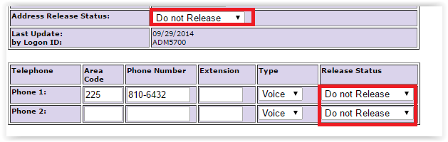 "the ""do not release"" options on the withholding/other form"