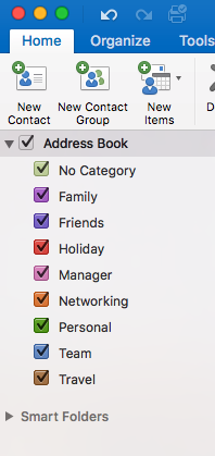 Creating a new contact for the Address Book