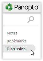 discussion button in panopto