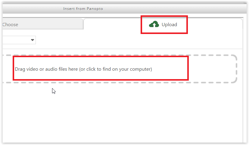 the upload button and the add new files box