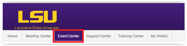 the event center button