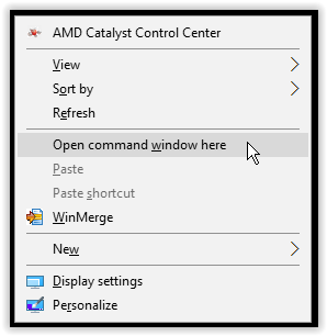 windows 10 open command prompt here