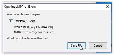 the save file button for the program