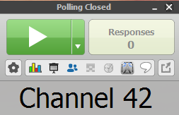Polling taskbar showing polling is closed