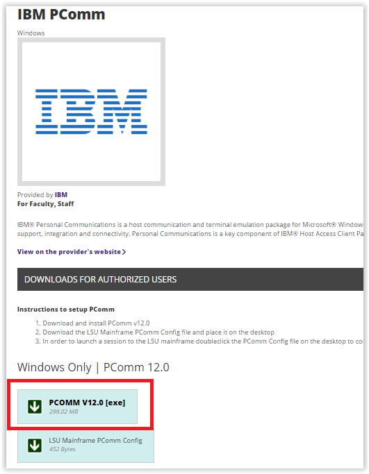 IBM PCOMM: Installation Instructions - GROK Knowledge Base