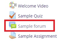 Link to sample forum