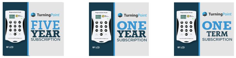 Turning Point subscription options: 5 year, 1 year, or 1 term