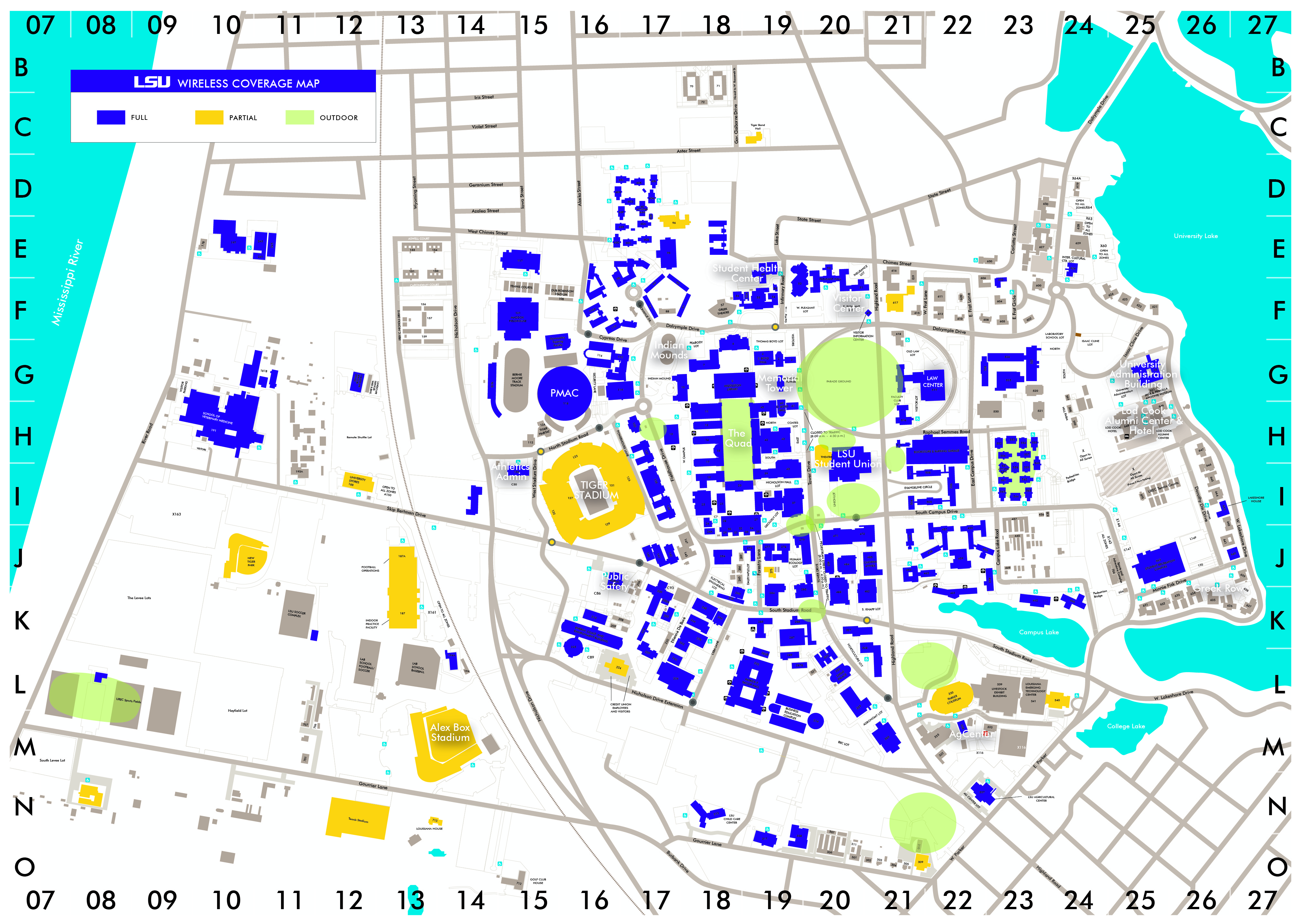 Map Of Lsu Campus Creativehobby Store