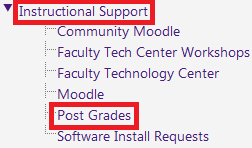 Instructional support menu