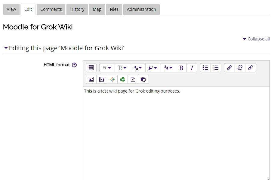 wiki edit text box