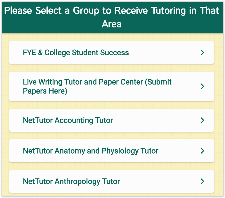CAS tutoring page