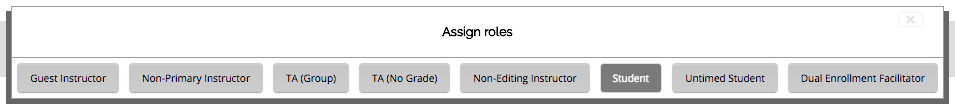Assign roles box
