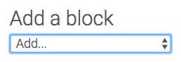 Add a Block menu