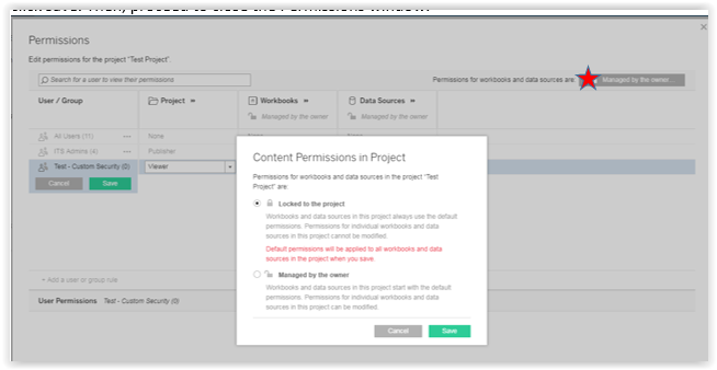 finalizing the changes in permissions