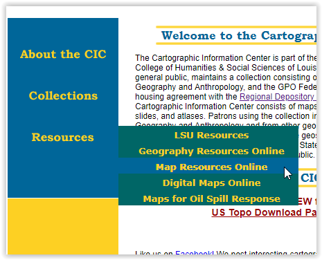 cartographic info center resources tab