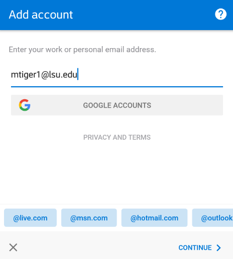 Android outlook login