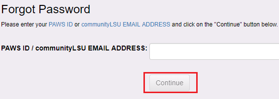 forgot password email input