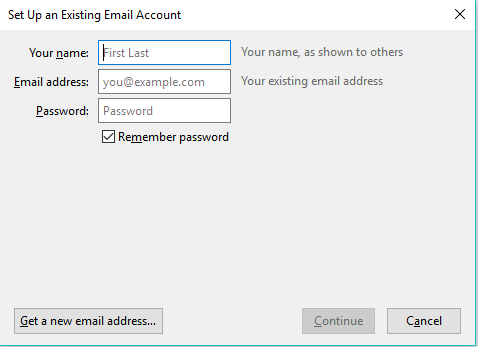Set up an existing email
