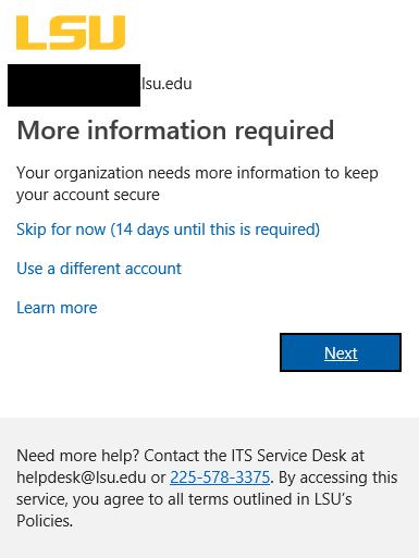 Office365: Multi-Factor Authentication (MFA) Enrollment