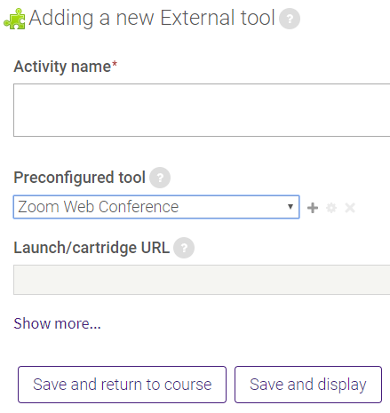 Add zoom web conference